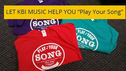 Play your song t-shirts are available in school colors
