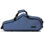 Beaumont Alto Sax Case Blue Polka Dot